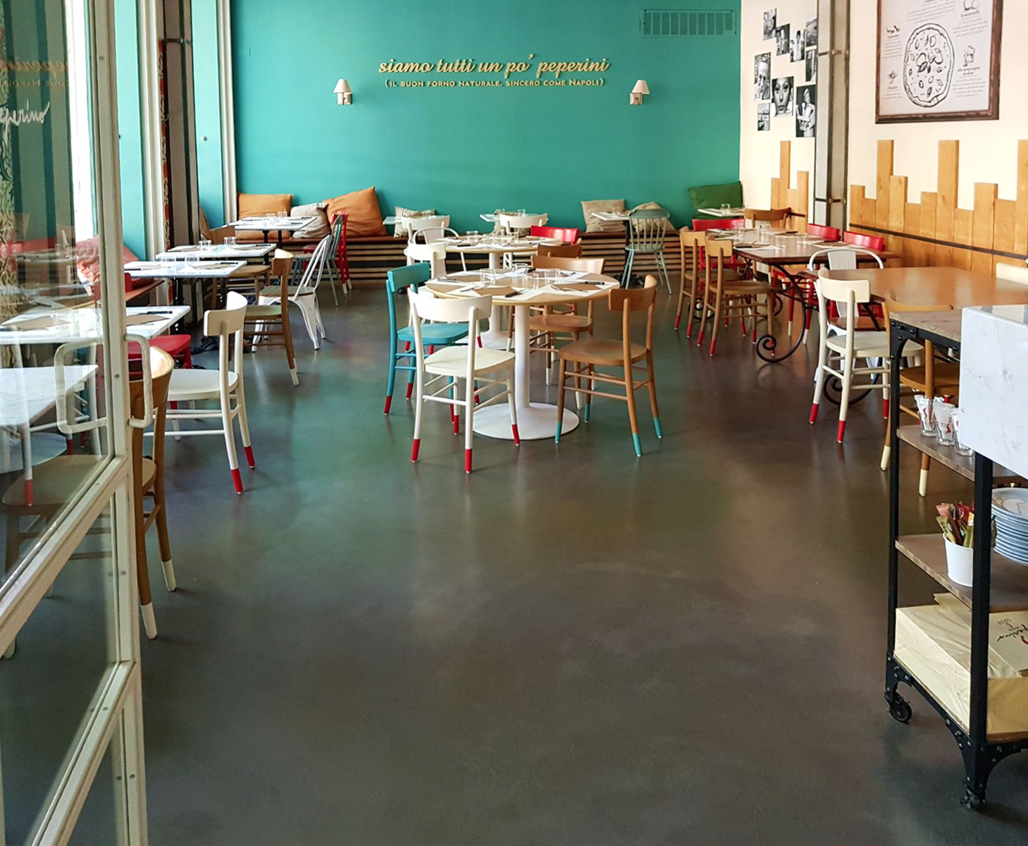 Tavoli Da Locali Pubblici : Locali pubblici neo resine pavimenti e rivestimenti in resina